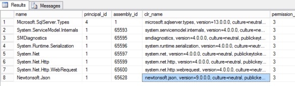 HowTo: Redeploy CLR assemblies to SQL Server (Newtonsoft